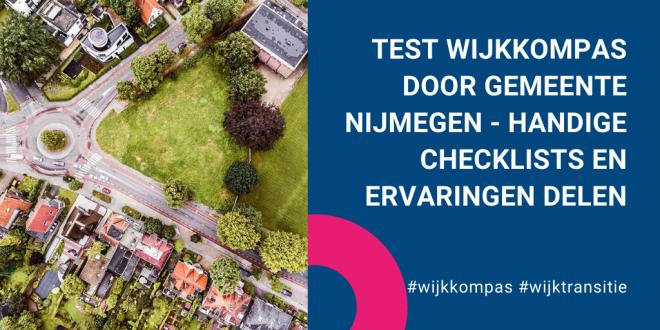 Test Wijkkompas door Gemeente Nijmegen